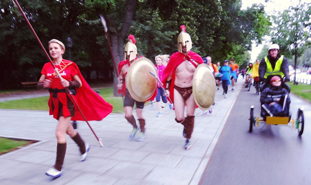wjazd do Warszawy ze Spartanami